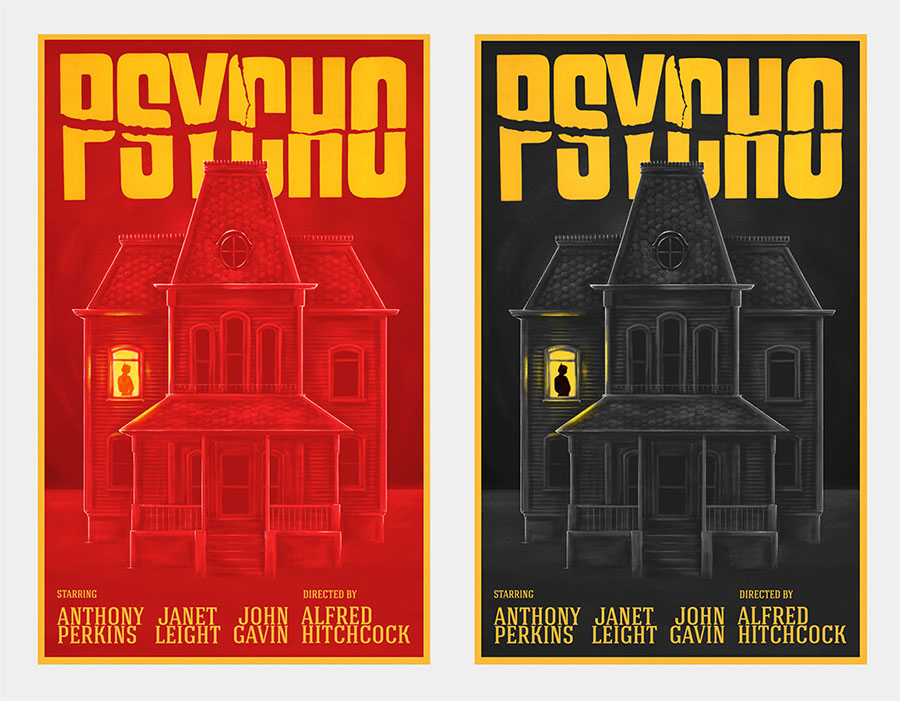 psycho poster alternative colours